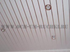 потолок из пвх панели в ванне