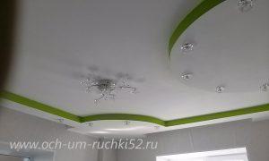 фигура из ГКЛ на потолке фото